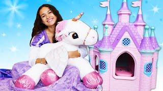 Смешные видео онлайн - Принцессы Дисней и милая Единорожка делают уборку! – Весёлые игры для девочек