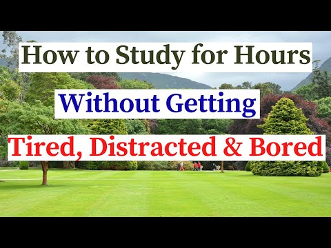 How to Study for Long Hours Without Getting Tired, Distracted or Bored #howtostudylonghours