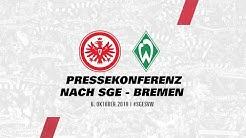 Pressekonferenz nach Eintracht Frankfurt - Werder Bremen | Bundesliga
