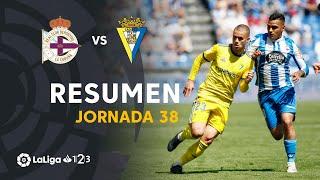 Resumen de RC Deportivo vs Cádiz CF (1-1)