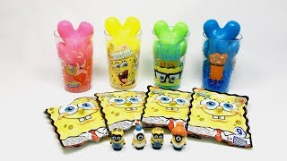 Learn colors with SpongeBob, Jewelry candy, Play Doh, Slime, Kinder Surprise Eggs, Baby Toys
