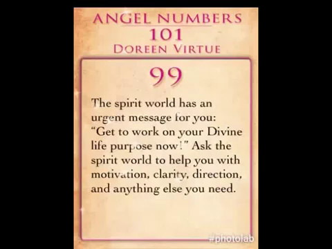 Daily Angel Number 99 by Doreen Virtue