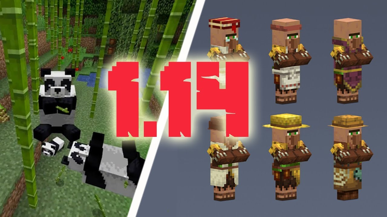Minecraft 1 14 Villager Pillager Pandas Minecon Earth Summary