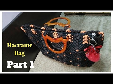 How to make Macrame Bag in professional way | PART 1