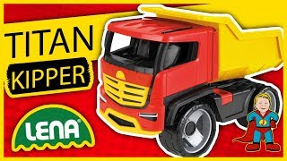 LENA® Titan Kipper mit Stahlachsen beim Spielzeugtester