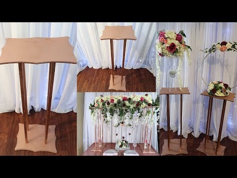 DIY SUPER EASY TALL DISPLAY STAND FOR CENTERPIECE DECORATIONS