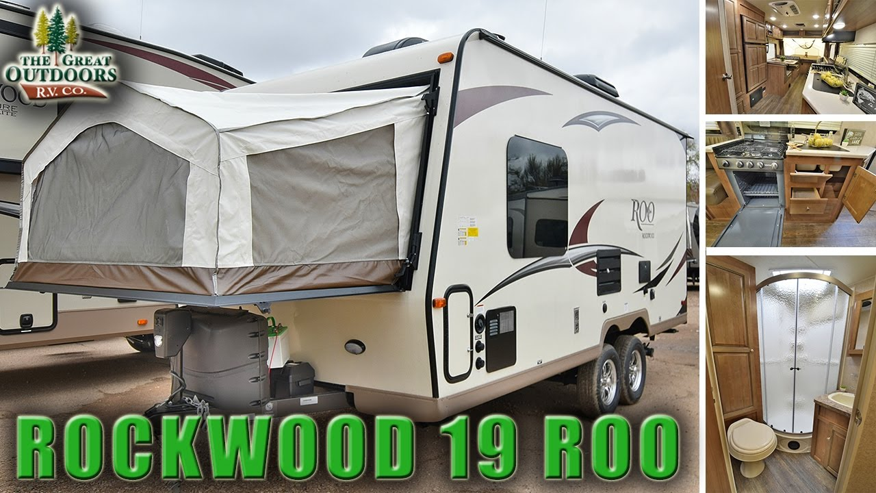 2018 Forest River Rockwood 19 Roo R1078 Hybrid Camper Travel Trailer Rv S Dealer You