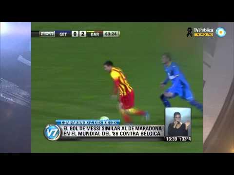 Visión 7: Comparativo entre goles de Messi y Maradona