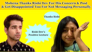 Mohena Thanks Rishi & Get Disappointed Too   Shows Concern For YRKKH Team