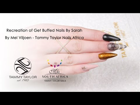 Recreation of Get Buffed Nails By Sarah By Mel Viljoen - Tammy Taylor Nails Africa