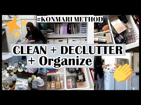 CLEAN+DECLUTTER+ORGANIZE WITH ME   KONMARI INSPIRED   Til Vacuum Do Us Part