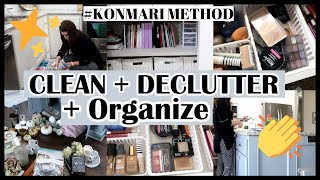 CLEAN+DECLUTTER+ORGANIZE WITH ME | KONMARI INSPIRED | Til Vacuum Do Us Part