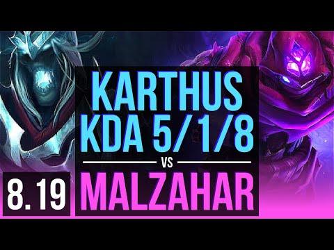 KARTHUS vs MALZAHAR (MID) | KDA 5/1/8, 500+ games | Korea Master | v8.19