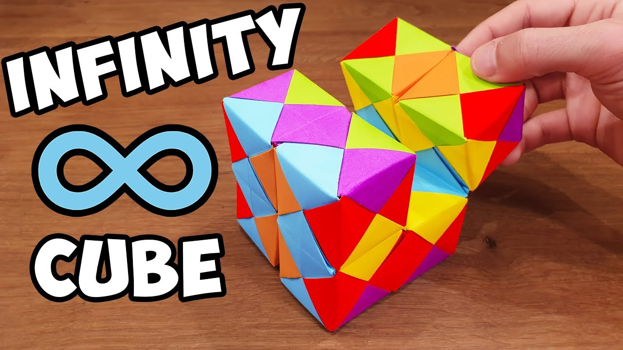 Origami - How to make a easy origami cube (3D) - YouTube | 720x1280