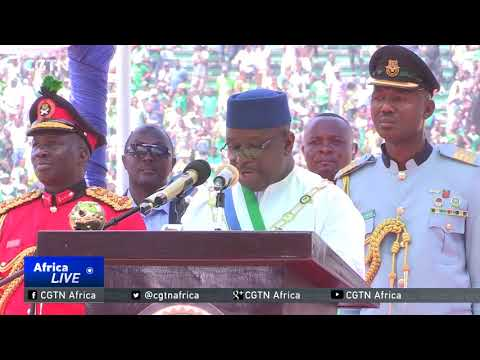 Seven African heads attend president Maada Bio's inauguration