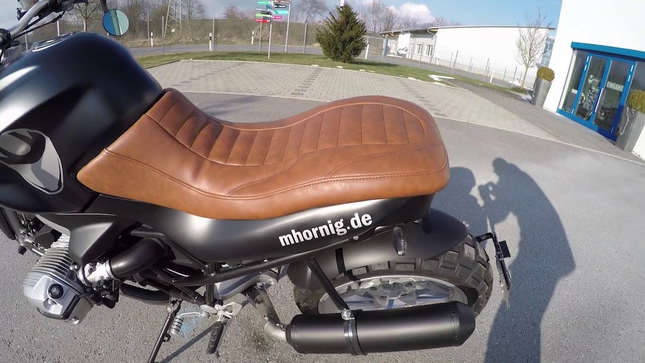 Bmw R1200r Scrambler Umbau Sound By Hornig Youtube