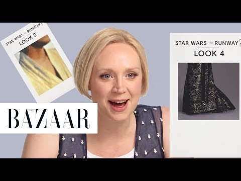 Gwendoline Christie Tests Her Knowledge of The Last Jedi vs. the Runway   Harper's BAZAAR