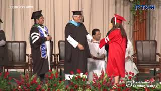 Duterte attends granddaughter Isabelle's San Beda graduation