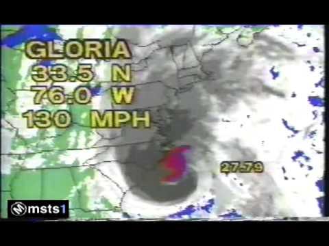 Hurricane Gloria Warning Update - 9/85