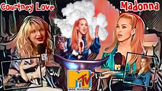 TOP Madonna Mtv VMA - 10. Post Interview Madonna vs Courtney Love (1995)