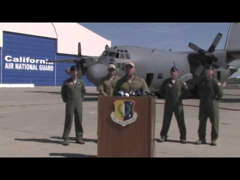 California Air National Guard Rescues Sick Child at Sea