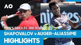 Denis Shapovalov vs Felix Auger-Aliassime Match Highlights (3R) | Australian Open 2021
