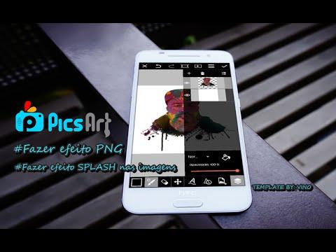 PicsArt (como fazer  PNG nas imagens de dois jeitos e faça efeito Splash nas suas imagens)