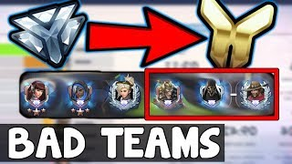 How to CARRY Games With TERRIBLE TEAM COMPS - Overwatch Season 8 Tank Ranking Up Guide Tips Improve