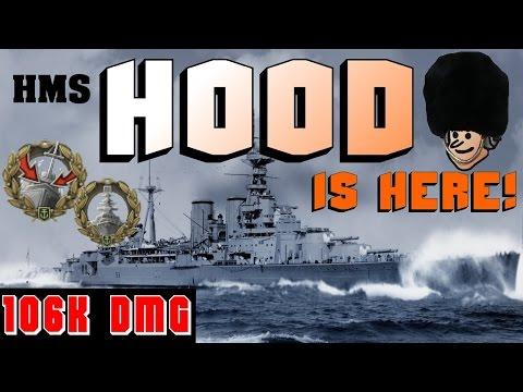 HOOD - amazing Warship - first look gameplay || World of Warships