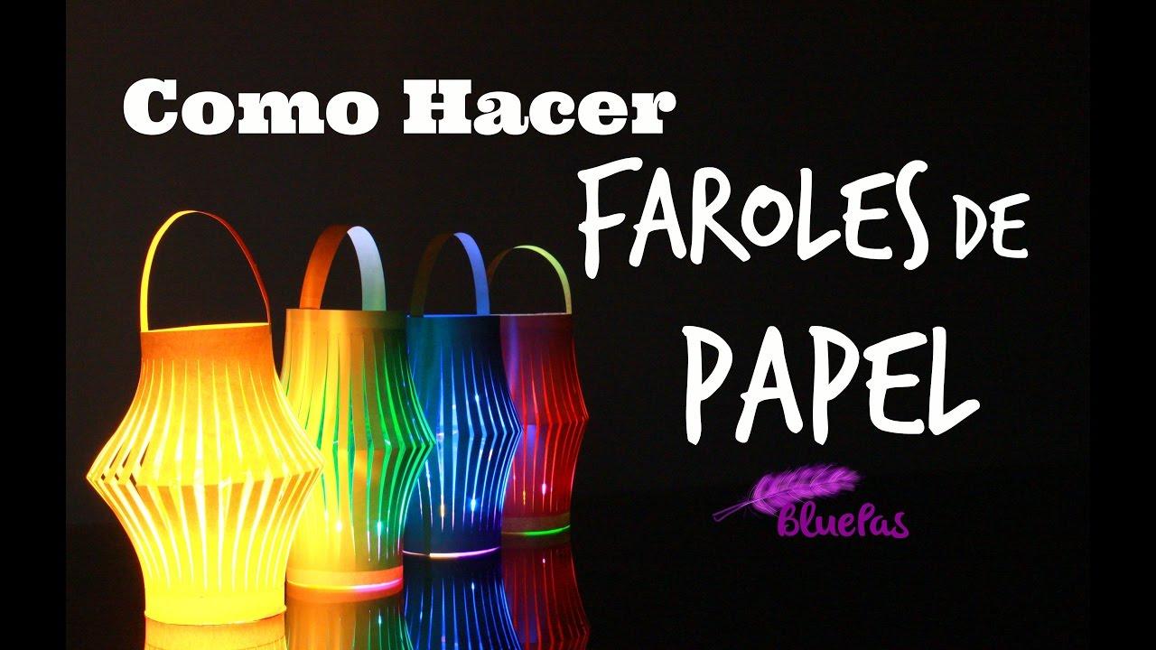 Como hacer faroles de papel mybluepas youtube - Como hacer espaguetis al pesto ...