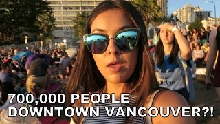 700,000 People In Downtown Vancouver!!! - Vlog 38 - TrinaDuhra