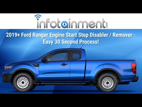 2019+ Ford Ranger Engine Start Stop Disabler / Remover - Easy 30 Second Process!