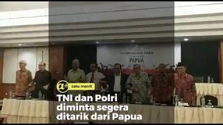 TNI dan Polri diminta segera ditarik dari Papua
