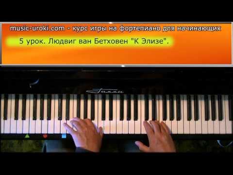 Урок 5. Курс фортепиано для начинающих. Л. в. Бетховен 'К Элизе'.