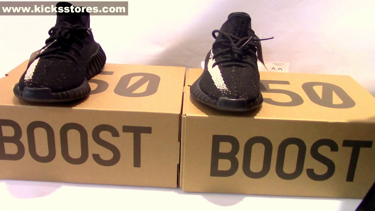 e4a8a3e30 Authentic Yeezy black white  VS Best Replica in China  - YouTube