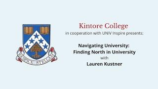 Navigating University: Finding North in University with Lauren Kustner