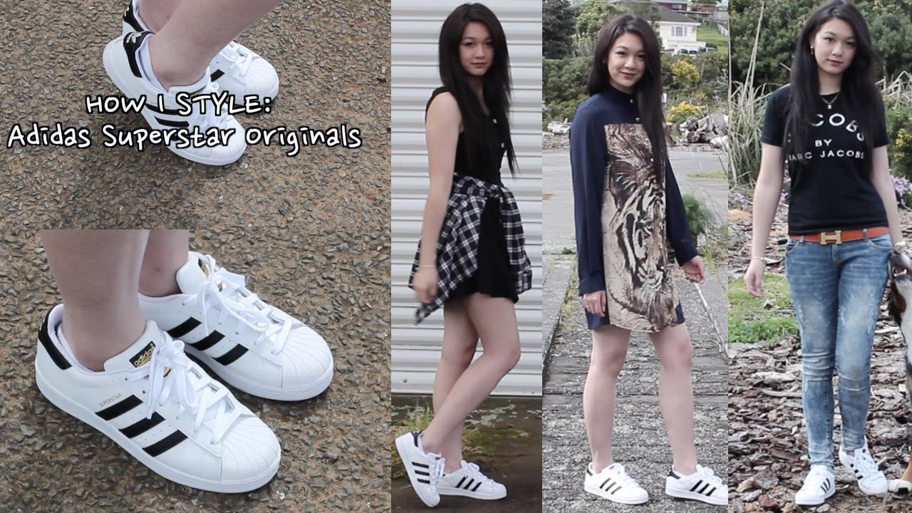 948308bfff84 How I style : Adidas Superstar Originals | 3 looks - YouTube