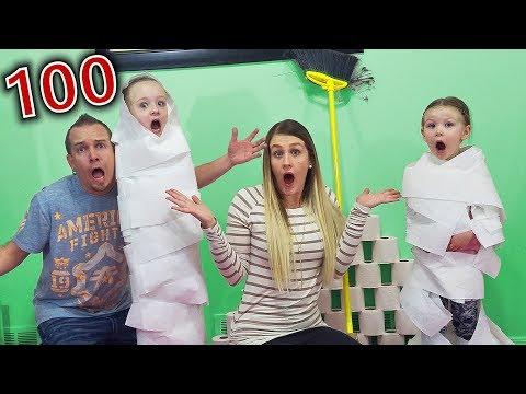 100 Layers of Toilet Paper! Vampirina Mummy Wrap! Team Trinity vs Madison!!!