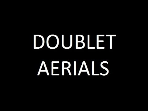 Doublet aerial for HF amateur ham radio short wave bands