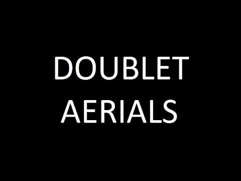 Doublet aerial for HF amateur ham radio short wave bands