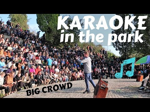 Singing the BEST SONG IN THE WORLD at Mauerpark Karaoke - Berlin