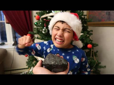 I GAVE MY LITTLE BROTHER COAL FOR CHRISTMAS! *INSANE FREAKOUT*
