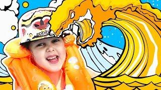 БАССЕЙН это ЛАВА Челлендж! Pool is LAVA Challenge! Игры в бассейне с надувашками! Видео для детей!
