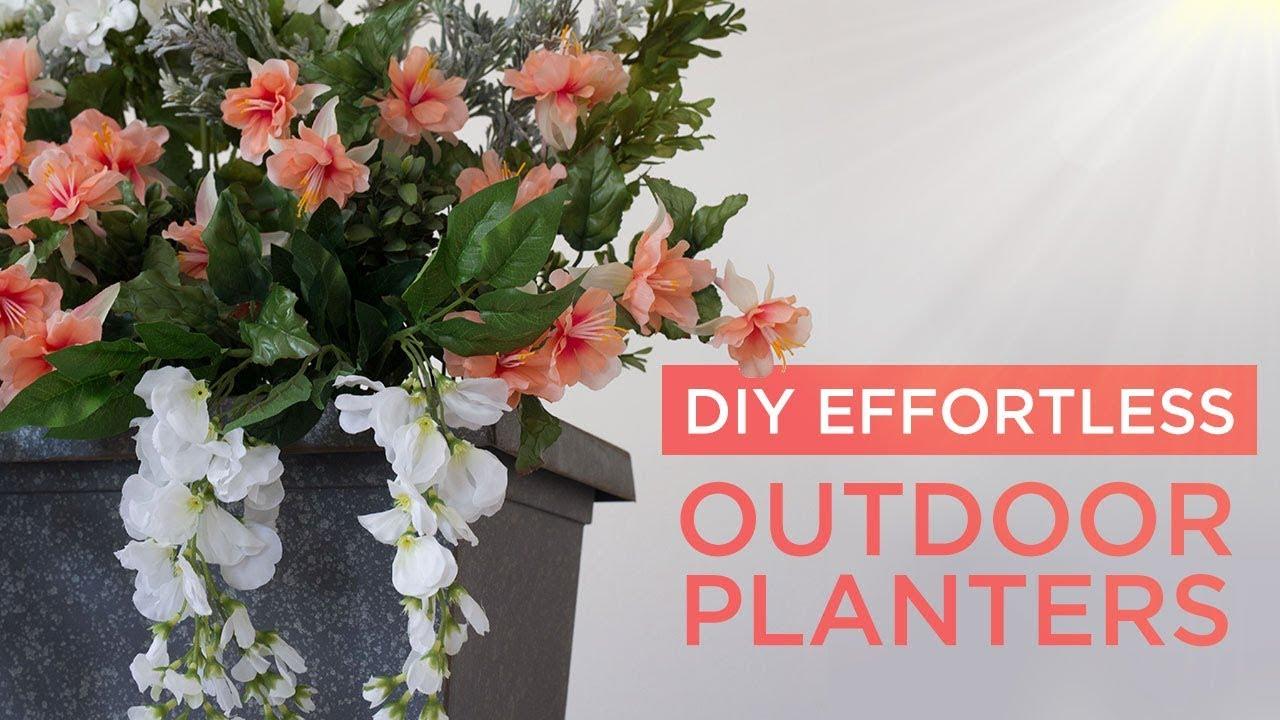 Diy Outdoor Planters Youtube