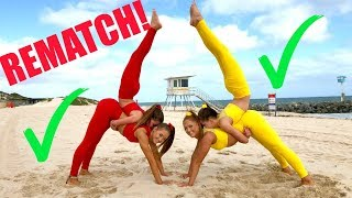 Big sisters VS Little sisters EXTREME YOGA CHALLENGE! REMATCH! thumbnail