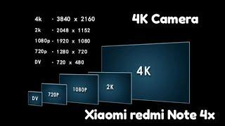Xiaomi redmi Note 4x Как записать  видео в 4K (Ultra HD)  разрешение