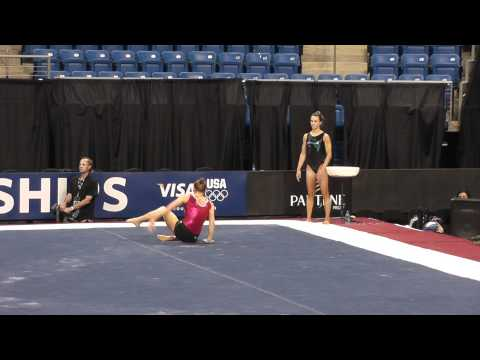 Bridget Sloan - Floor - 2012 Visa Championships Podium Training