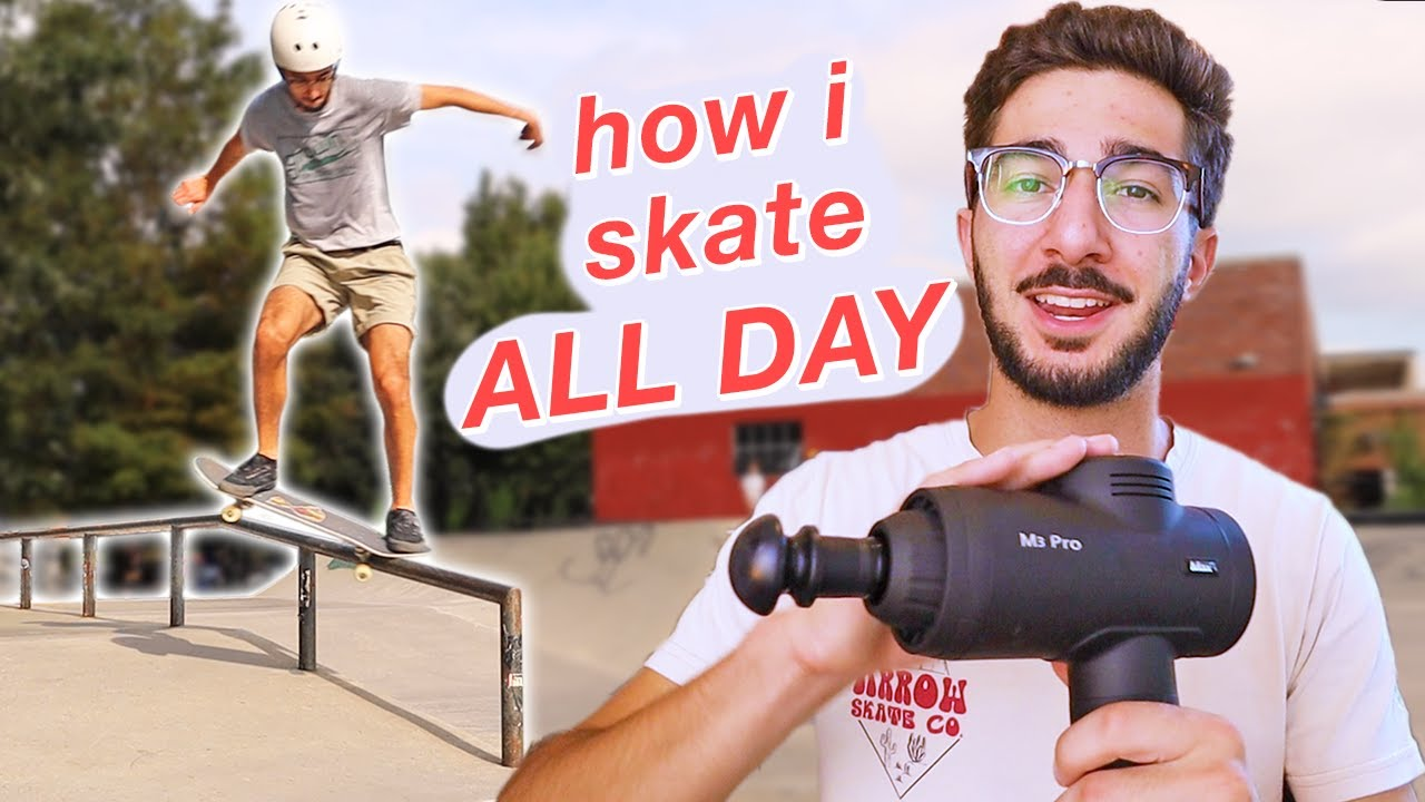 How I Take Care of my Body for Skateboarding! – Stretching, Massage Gun, & More