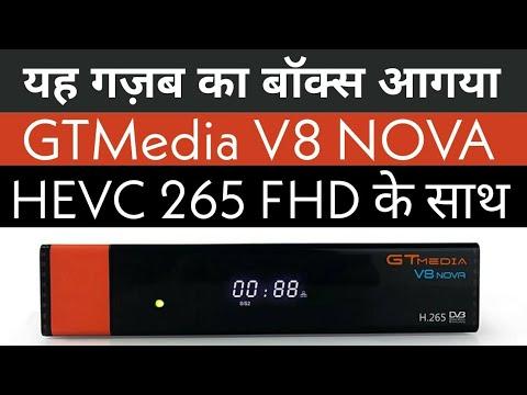 GTMedia V8 NOVA HEVC.265 DVB-S2 FTA Receiver Built-in WiFi Support