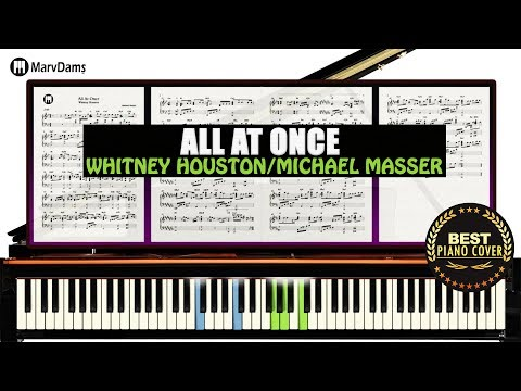 All At Once - Whitney Houston/ Piano Sheet Music Tutorial Guide